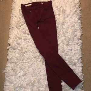 Gap Maroon Skinny Jeans, Size 26r